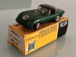 Jouet Ancien voiture de circuit Slot Jouef Jaguar Type E avec Hard Top Ref 352