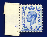 1950 SG508 4d Light Ultramarine Q20 Cyl No.3 No Dot Perf Type 5 Mint c.£25 cips