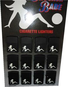 Lot of 12 Classic Vintage Style Trucker Babe Flint Lighters AADLP