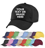 Personalised Embroidered Baseball Cap Custom Printed Hat Unisex Mens Ladies