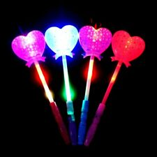 LED Flashing Light Up Glow Magic Heart Stick Wand Concert Favor Wedding Party