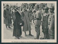Kaiser Karl Zita Frontbesuch Bozen Tirol Kaiserjäger Oberst Tschan Huslig 1917