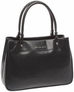 Paquetage Damen Handtasche Henkeltasche schwarz 33 x 23 x 10,5 cm