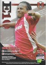 Football Programme>LEYTON ORIENT v AFC BOURNEMOUTH Sept 2007