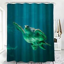 Turtle Digital Print Marine Animal Bathroom Shower Curtain Waterproof Curtain LG