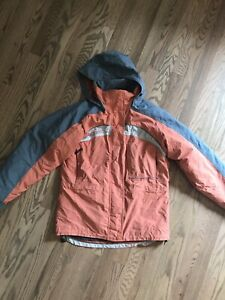 Columbia Interchange Womens Size S Orange Jacket Coat Insulated Hooded