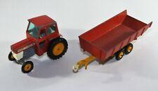 Vintage King Size Matchbox Massey Ferguson Tractor and Trailer - K 3 Diecast A12
