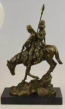 Bronzeskulptur Figur russisches Motiv Pferd Mann Frau Bronze Figur