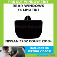 Pre Cut Window Tint - Fits Nissan 370z Coupe 2010+ - 5% Limo Rear