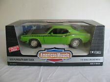 Ertl American Muscle 1/18 Lime Green 1970 Plymouth Aar Barracuda #7449 Nos