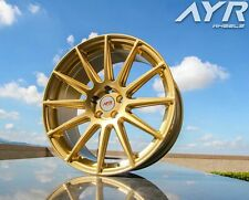 """18"""" ALLOY WHEELS FIT FOR AUDI TT TTS ROADSTER COUPE AYR 02 GOLD"""