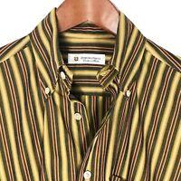 Domenico Vacca Mens Medium M Stripe Long Sleeve Button Down Shirt Italy