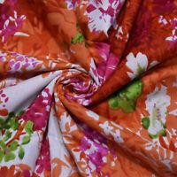 """Baumwollstoffe Orange Blumendruck 43 """"Wd Vorhang Indischen Stoff Von Der Werft"""
