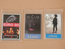 THE CURE - Collection of THREE (3) Laminated Backstage Tour Passes