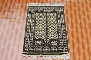 Mordern Design Antique Look Oushak Turkish Handmade Area Rug Door Mat 2x3 ft