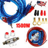 1500W Car Amplifier Wiring Kit Audio Subwoofer AMP RCA Power Cable Line AGU FUSE