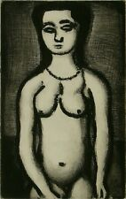 """Master Rouault(1871-1958) Etching """"NU"""", Museum-class piece, not fake! sheet only"""