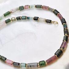 Natürliche Sets mit Turmalin-Halsketten mit Edelsteinen