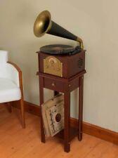 Steepletone Phono 2 Dark Wood giradischi giradischi Tromba Corno Grammofono CD
