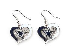 BRAND NEW Dallas COWBOYS NFL - Swirl Heart Dangle Earrings