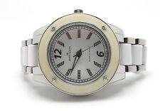 ANNE KLEIN Women's White & Silver Swarovski Crystal Dress Watch 10-9181WTSV NIB