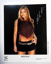MELINA Perez Autographed 8 x 10 PHOTO WWE Diva WRESTLER Legend Model SEXY PC914