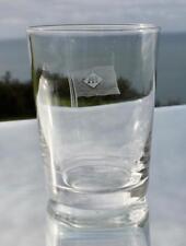 "ALFRED HOLT BLUE FUNNEL LINE HAND BLOWN CRYSTAL DRINKS BEAKER GLASS 3.5"""