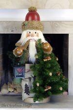 Christian Ulbricht German Wooden Nutcracker Nussknacker - Rustic Santa with Tree