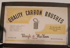 "RARE VINTAGE(MONTREAL) ""CARBON BRUSHES-WAUGH & MAC KEWN LTD"" CARDBOARD BOX-EMPTY"