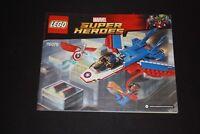 Notice - Lego MARVEL SUPER HEROES - 76076 - Captain America Jet Poursuit