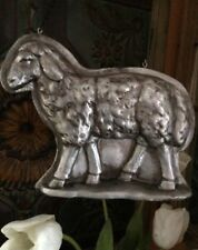 Primitive Tin Style Sheep Lamb Silver Resin Mold Easter ARROW HANGER Replacement