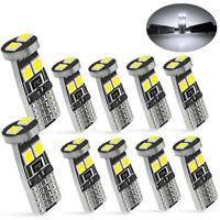 2PC T10 CAR BULBS LED ERROR FREE CANBUS SMD XENON WHITE W5W 501 SIDE LIGHT BULBS