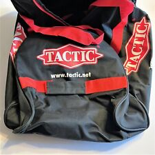 Black and Red Tactic Travel Duffle Bag with Wheels Gym Work Suitcase Rolling