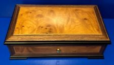 Vintage Reuge Switzerland (Italy) Wooden Music Box