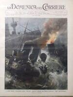 La Domenica del Corriere 12 Aprile 1908 Livorno Trieste Disordini a Roma Benadir