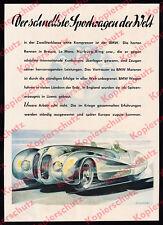 Or. Color Advertising BMW 328 Superleggera stromline Car Motorsport Nürburg-Ring 1940