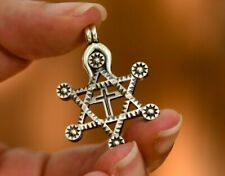 David with Cross Pendant Sterling Silver Messianic Star of