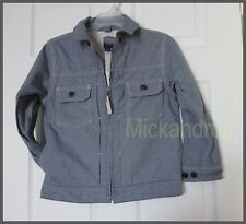 NWT Gap Kids Boys Chambray 100% Cotton Bomber Jacket Size M (8)