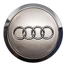 1x Audi Alloy Wheel Centre Cap 68mm 70mm Grey CHROME TT A3 A4 A5 A6 A7 Q5 Q7 RS4