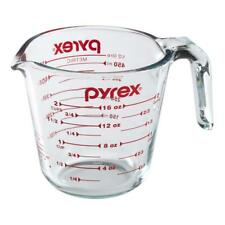 Pyrex Prepware Durable 2-Cup Glass Measuring Cup with Red Graphics, 6001075 NEW