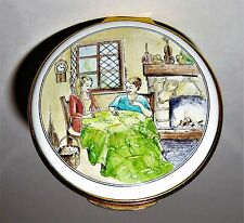 MARY MCLAUGHLIN ENAMEL BOX - PATCHWORK QUILTING BEE - SEWING - LE #6