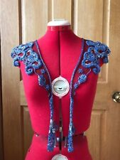 Vintage 1980s Sequinned and Beaded Scalloped Shawl