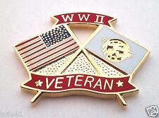 *** WW II VETERAN ***  Military Veteran Hat Pin 15908 HO