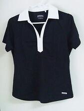 Nwot Womens Cutter & Buck Annika Short Sleeve Polo #Lak04258 Size Small Black