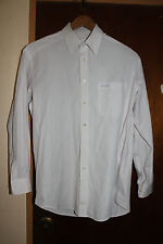 Nina Ricci Monsieur Paris Men's White Stripe Dress Shirt Size 95