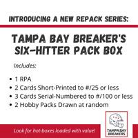 🔥TBB Football Repack: Six Hitter Pack Box🔥 1 RPA, 2 SP #/25, 3 SN #/100, Hobby