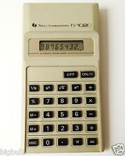 Vintage 1981 TEXAS INSTRUMENTS TI-1020 Business Calculator Box Complete Warranty