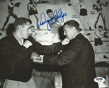 Danny Hodge Signed 8x10 Photo PSA/DNA COA B&W 1958 Boxing Picture w Jack Dempsey