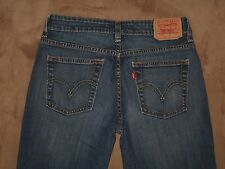 Levis 515 Size 4M Boot Cut Dark Blue Stretch Denim Womens Jeans