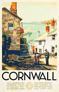 TX526 Vintage Cornwall Travel Poster GWR Railway Poster A2/A3/A4